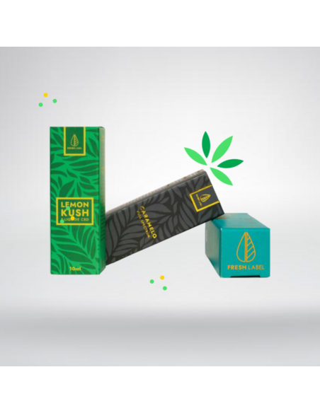 e-liquide CBD Caramelo, Lemon kush, Super skunk 10ml