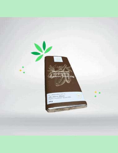 Chocolat au lait, graines de chanvre  et CBD (100g)
